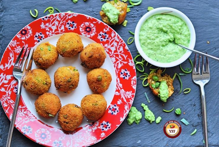 Vegan Leek and Pea Aranchini | Leek Recipes | YourFoodFantasy.com