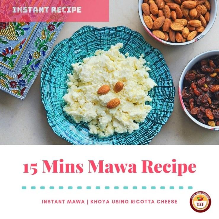 Instant Mava - Khoya recipe using Ricotta Cheese| YourFoodFantasy.com