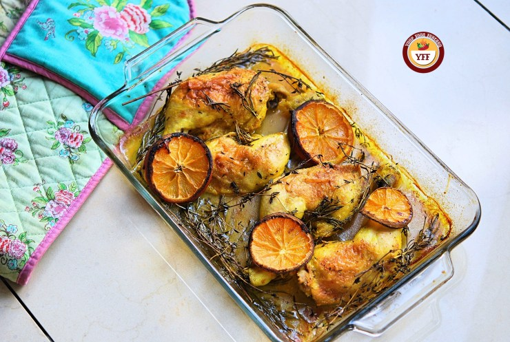 Oven baked Rosemary and Thyme Chicken legs | Easy Chicken Recipes | Your Food Fantasy
