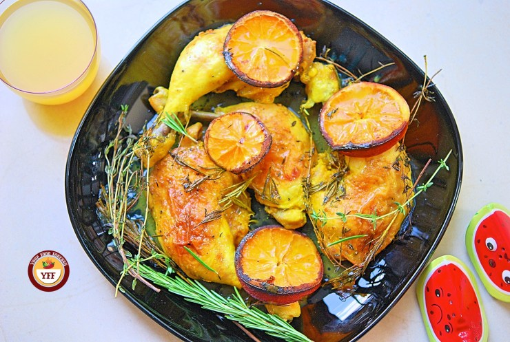 Rosemary and Thyme Chicken legs   Easy Chicken Recipes   YourFoodFantasy.com
