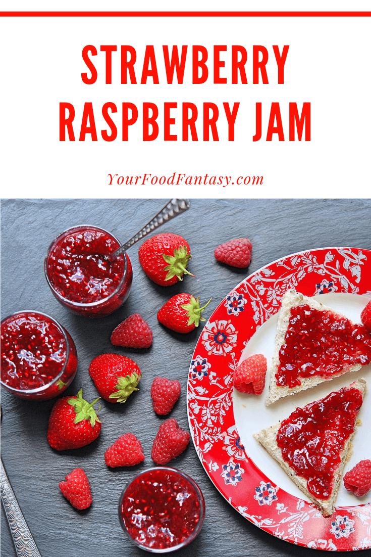 Strawberry Raspberry Jam Recipe on Your Food Fantasy
