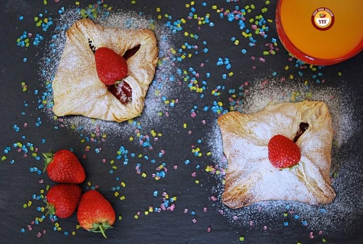 Apple and Strawberry Pockets | Apple recipes | YourFoodFantasy.com