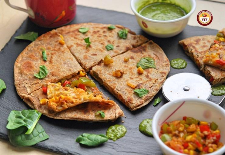 Pizza Paratha Recipe - Your Food Fantasy