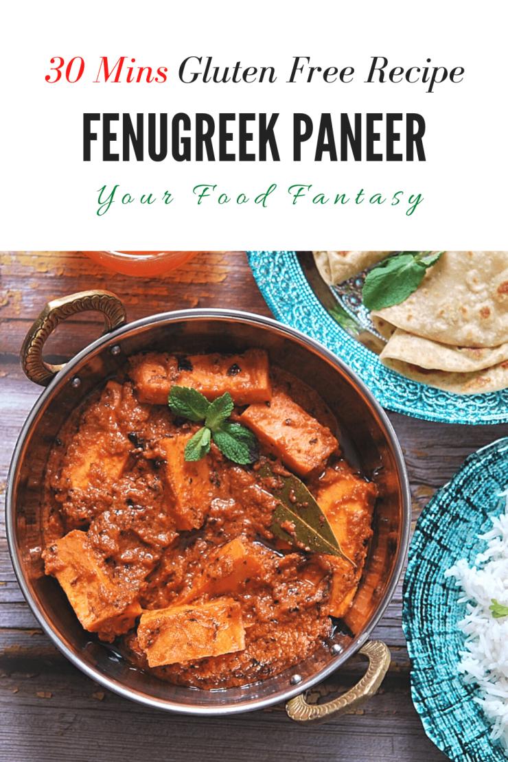 Methi Paneer - Paneer Recipes