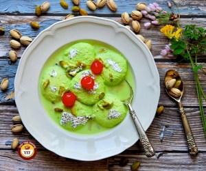 Pistachio Rasmalai - Ras Malai Recipe | Your Food Fantasy