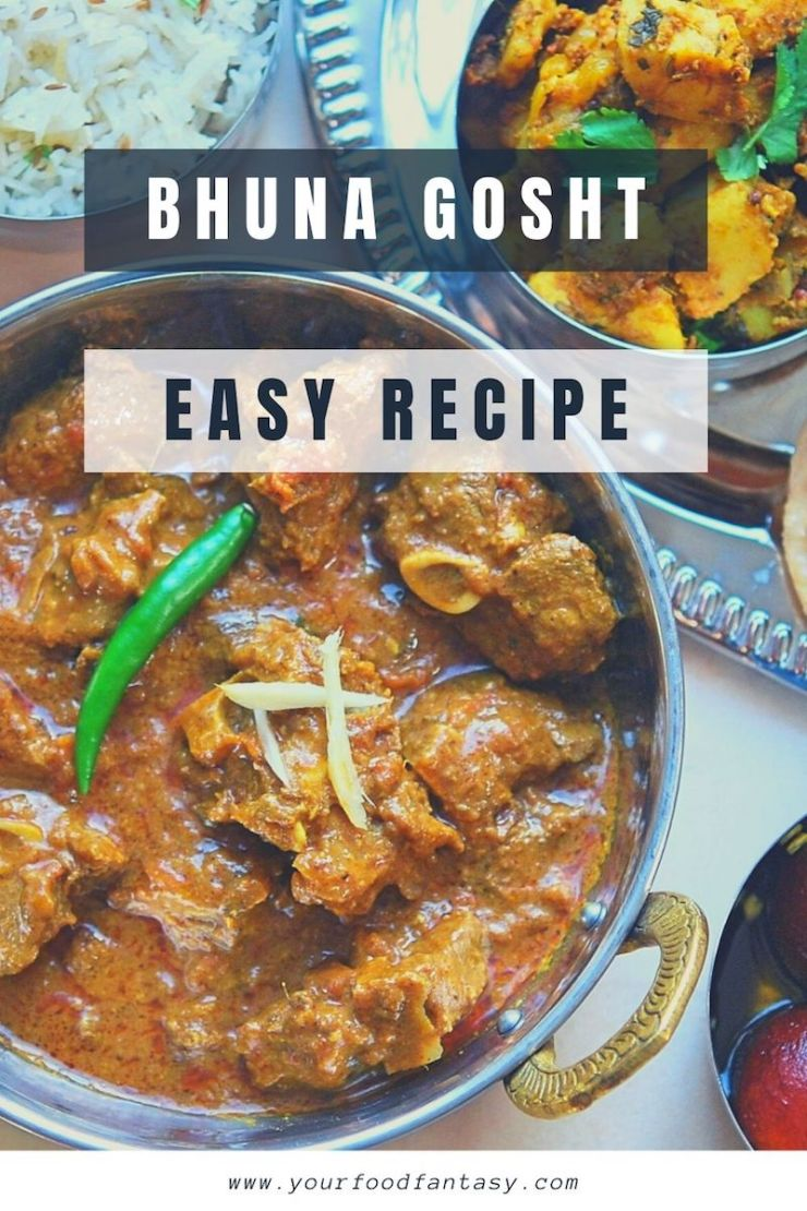 Bhuna Gosht - Bhuna Lamb Recipe | Your Food Fantasy