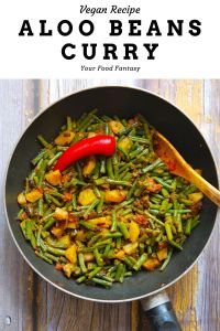 Aloo Beans Curry Recipe   Your Food Fantasy