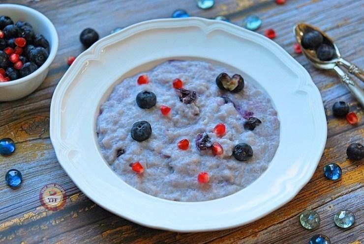 Blueberry Kheer Recipe - How to make blueberry phirni