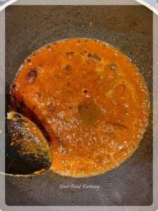 Making aloo gosht curry