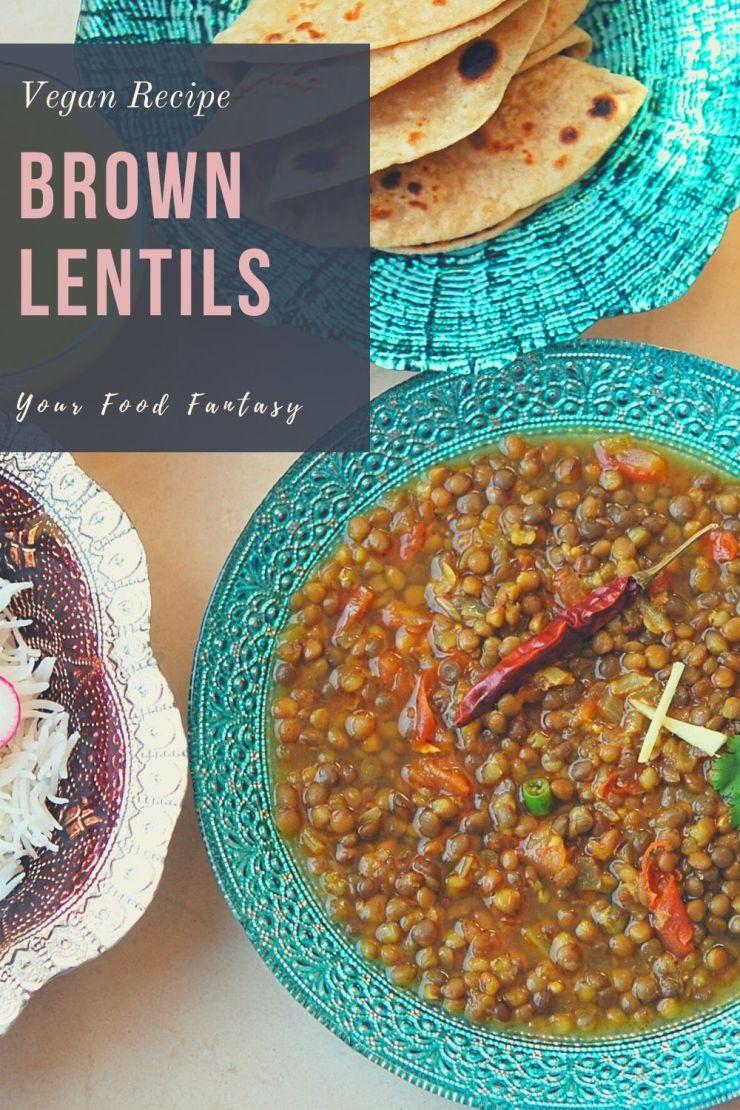 Brown Lentils - Sabut Masoor Dal