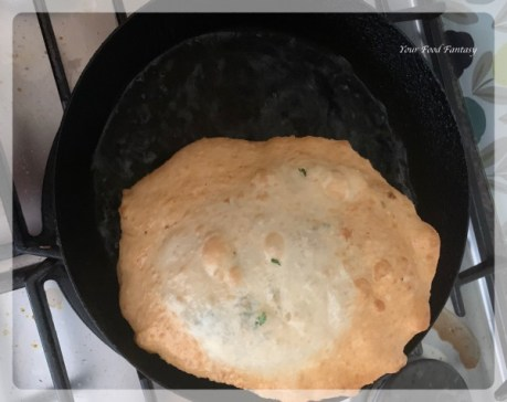 Frying of Bhatura