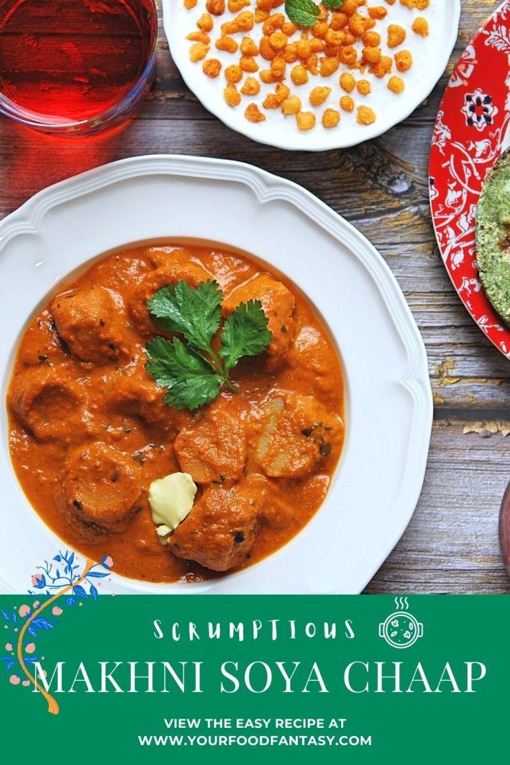 Makhni Soya Chaap Recipe