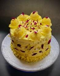 Eggless homemade rasmalai cake