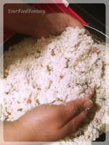 mixing filling for gujiya   gujiya recipe at yourfoodfantasy