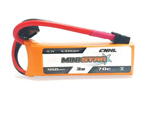 CNHL MiniStar 11.1V 3S 450mAh 70C LiPo Micro Battery - XT30