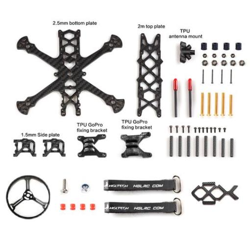 Sector25CR 2.5 inches FPV Ultralight Cinewhoop frame contents