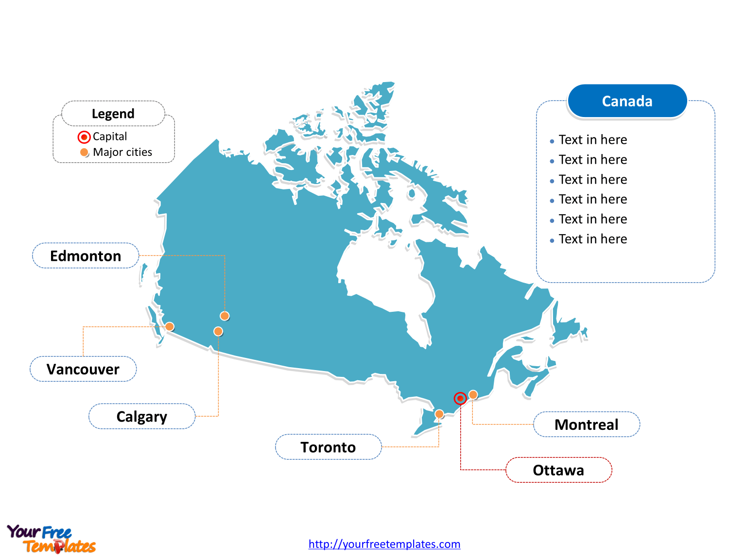 Canada Map Blank Templates