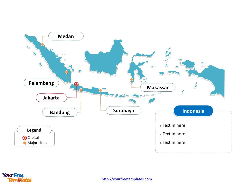 Masukkan gambar ke slide dengan cara: Free Indonesia Map Template Free Powerpoint Template