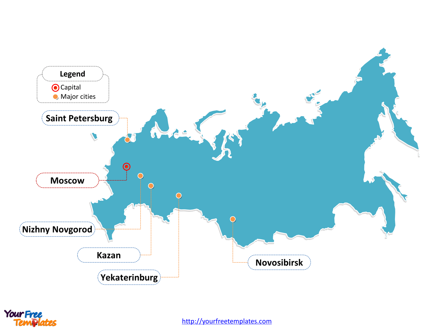 Free Russia Powerpoint Map