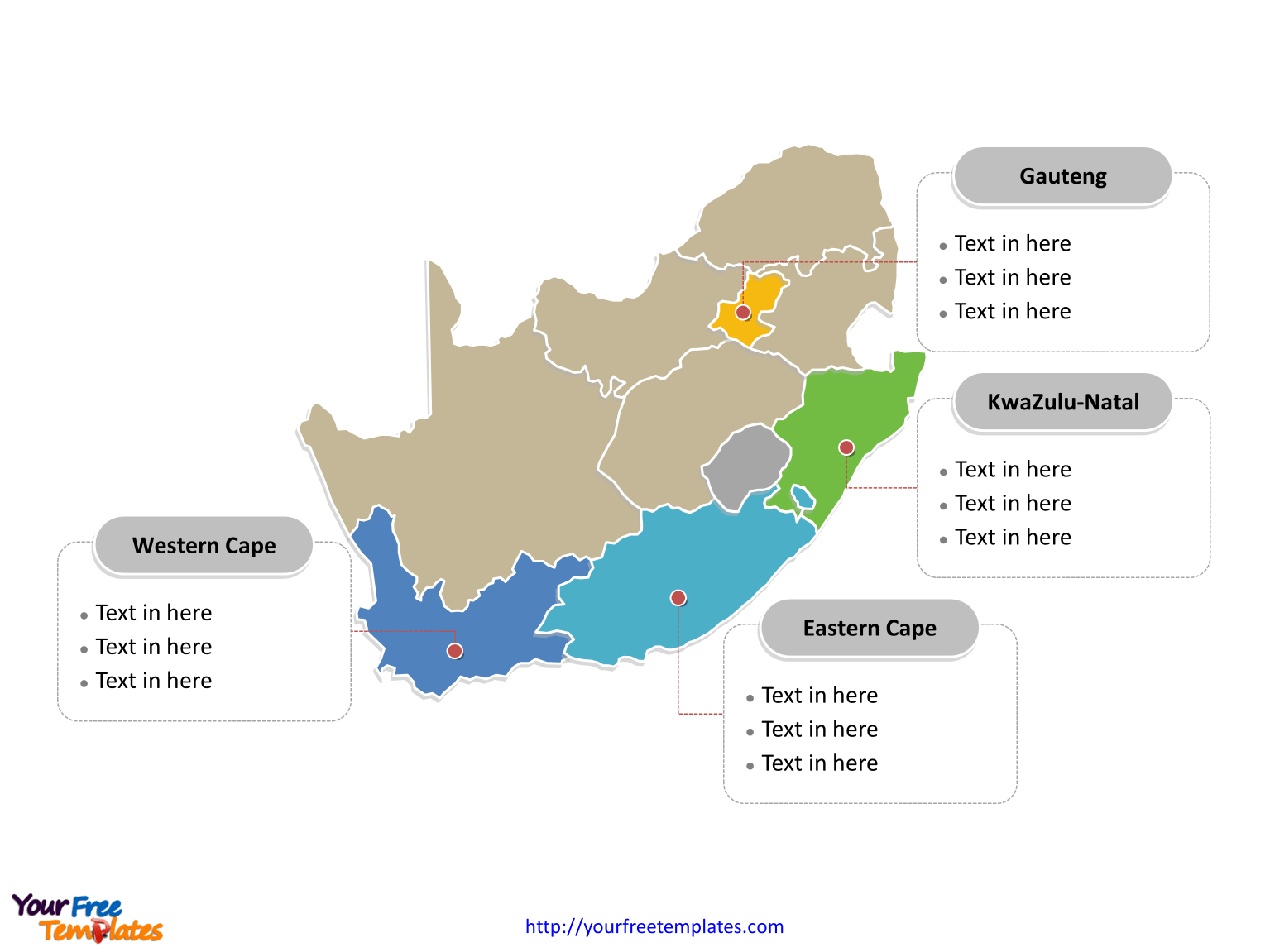 Free South Africa Editable Map