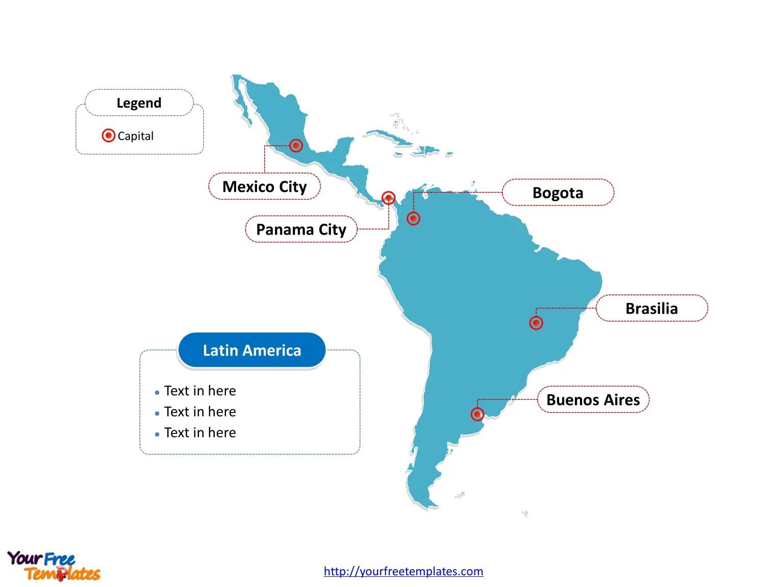 Latin America Map Free Templates