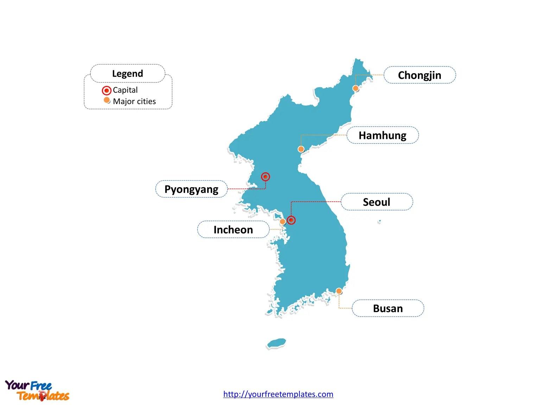 Free Korea Peninsula Editable Map