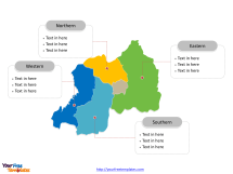 Free Rwanda Editable Map - Powerpoint Templates