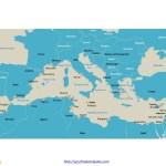 Free Mediterranean Sea Editable Map Free Powerpoint Templates