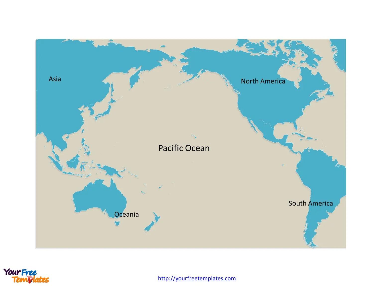 Free Pacific Ocean Editable Map