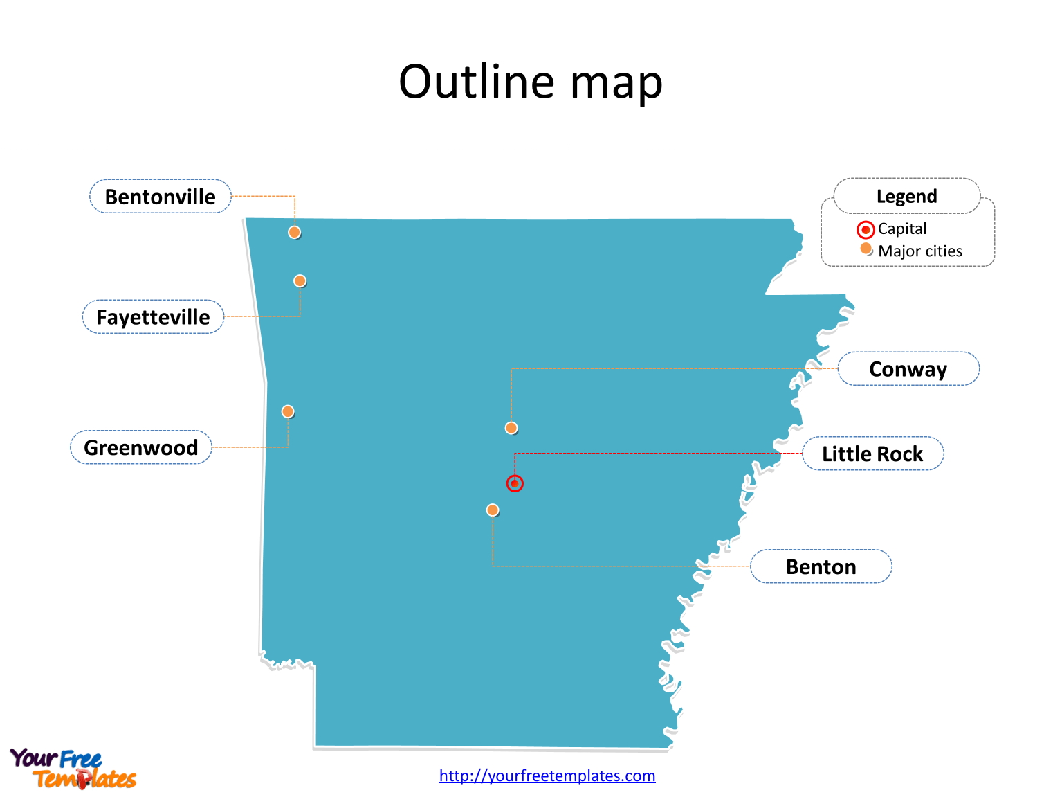 Arkansas Map Free Templates