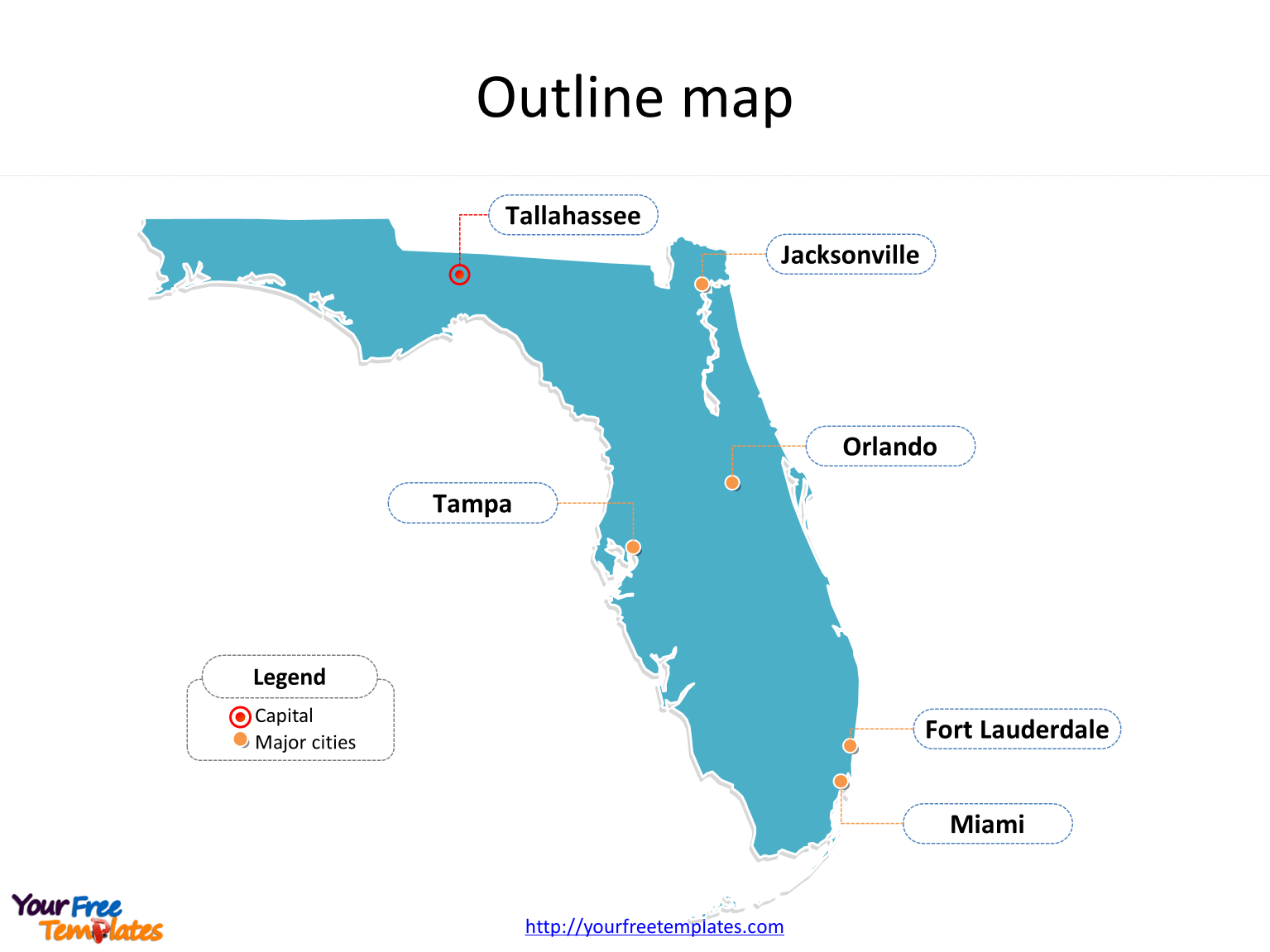 Florida Map Powerpoint Templates