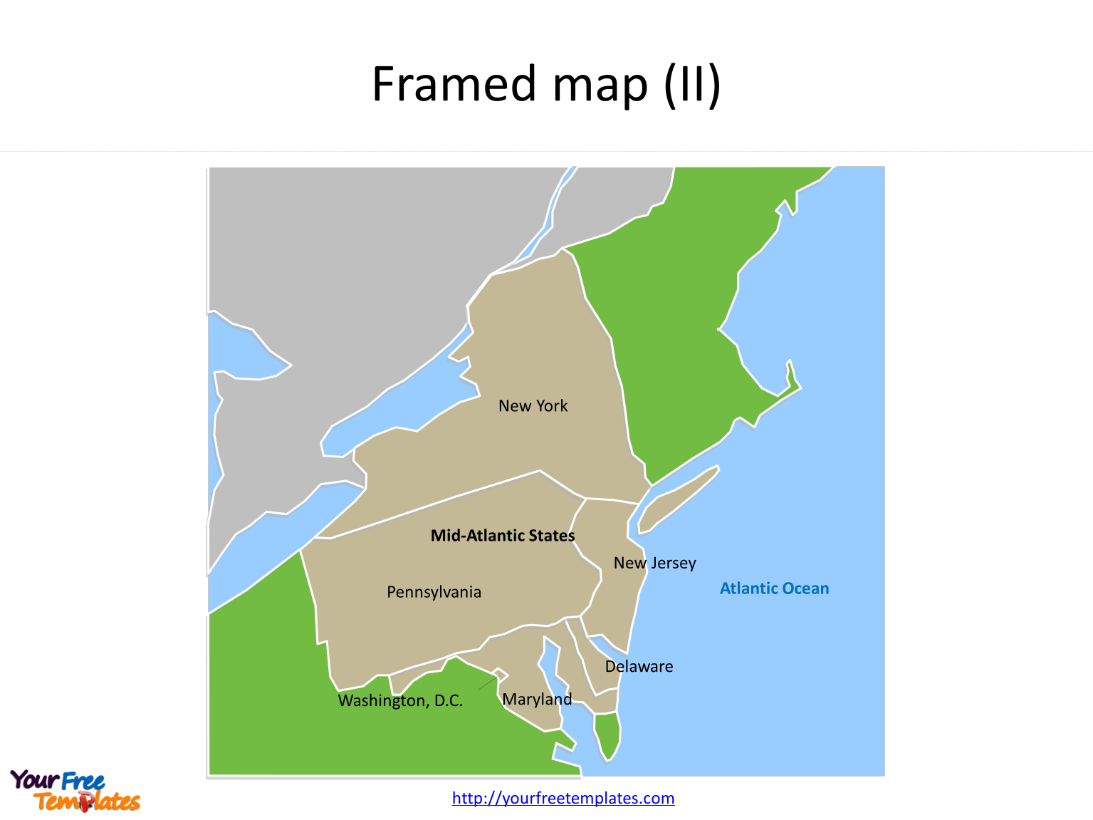 Us Map With Mid Atlantic States