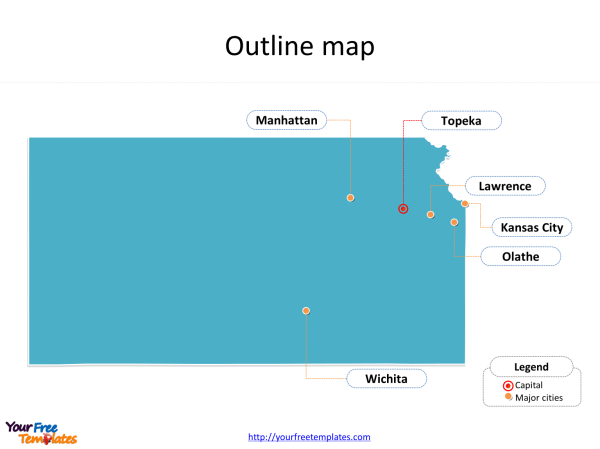 Kansas map PowerPoint templates Free PowerPoint Templates