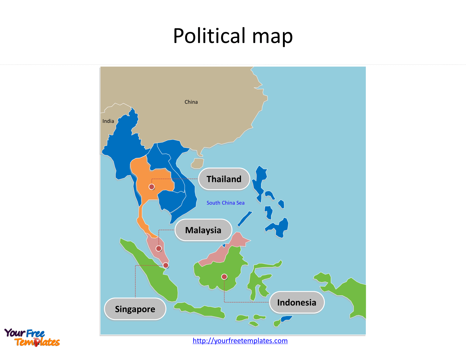 Southeast Asia Map Free Templates