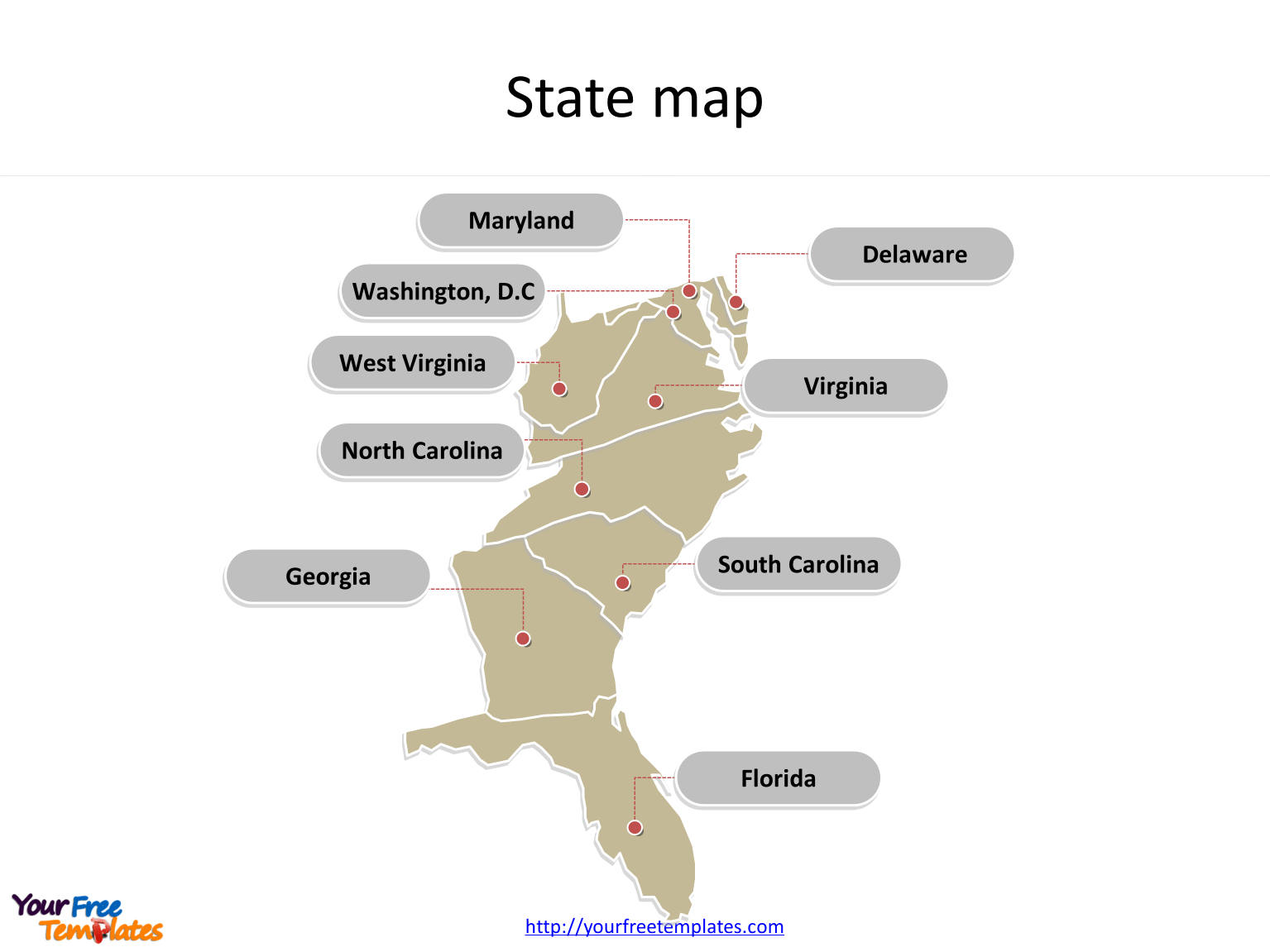 Us Maps With South Atlantic States