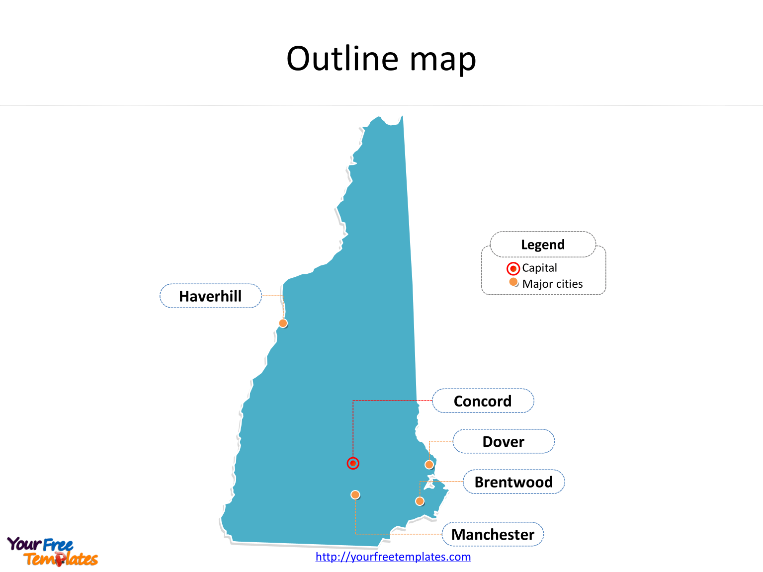 New Hampshire Map Templates