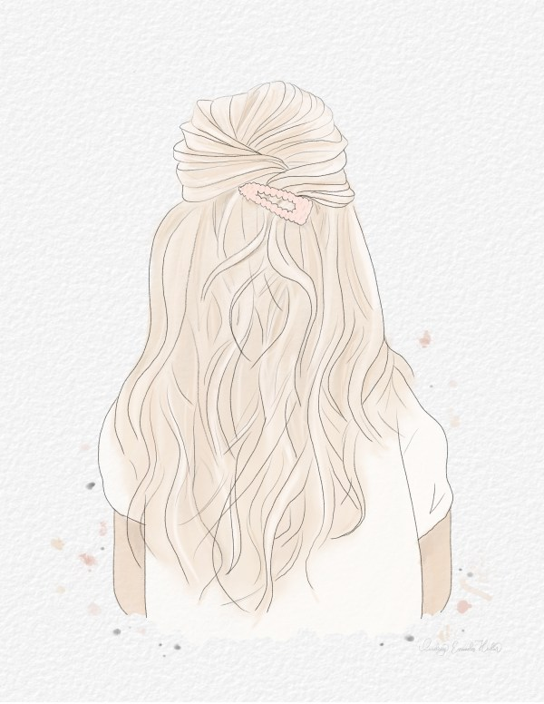 Watercolor Blond Hair Print