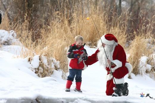 Fishing with Santa