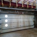 Sectional Garage Door as seen from inside