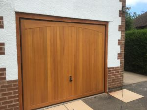 Wooden up and over garage door