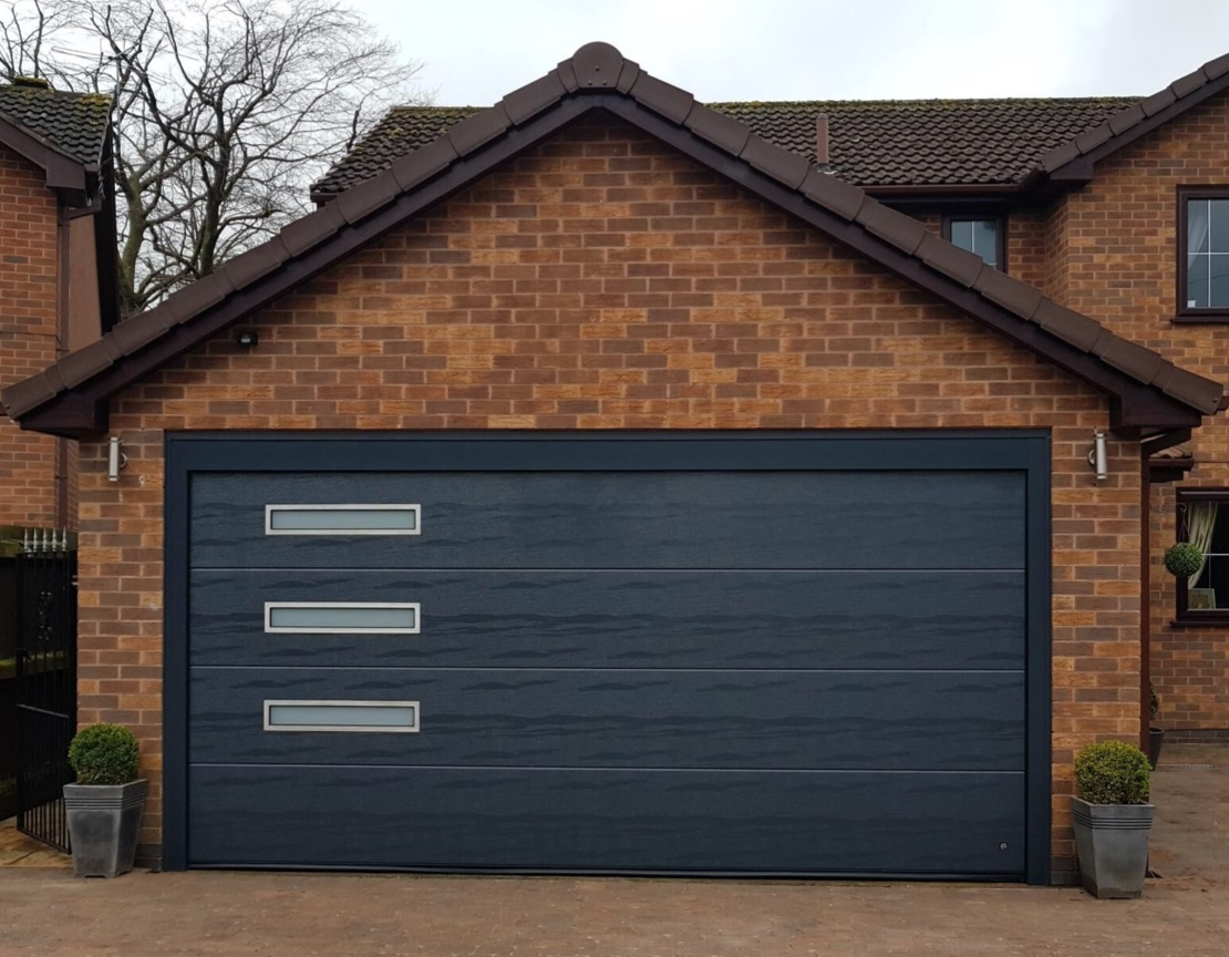 Slate grey Sectional door