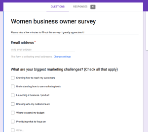 Survey - quick customer research