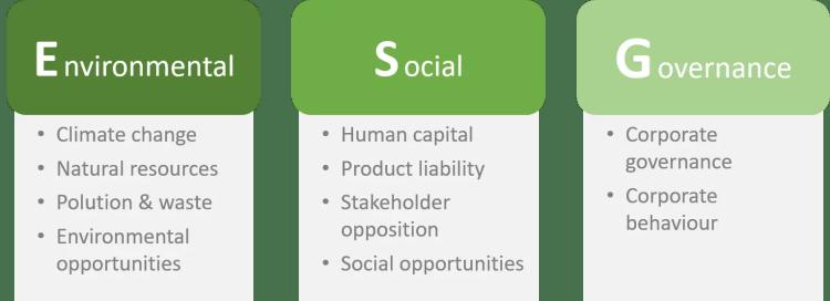 Environmental, Social and Governance criteria - the ESG framework for ETFs