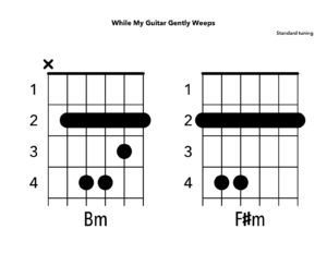 How to Play While My Guitar Gently Weeps by The Beatles