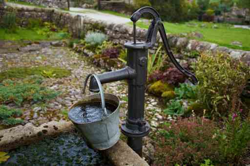 Well water hand pump