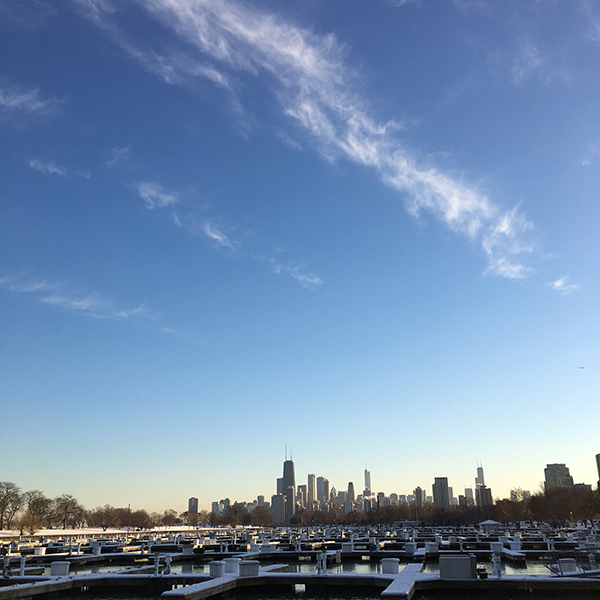 Chicago skyline captured by Margaret of Chicago Elevated - Happier Place