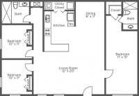 Three Bedroom Two And A Half Bath Floor Plans | Bathroom ...
