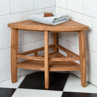 Wooden Shower Bench | Bathroom Decoration Plan