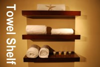 Bath Towel Shelf | Bathroom Decoration Plan
