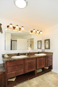 Bathroom Vanities Open Bottom Shelf